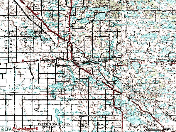 Zip code 56537 topographic map