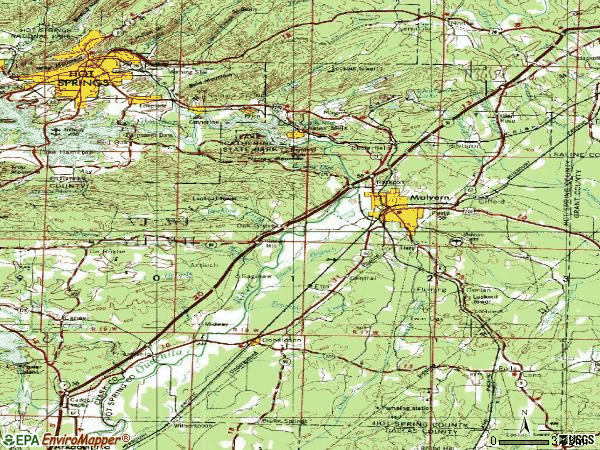 Zip code 72104 topographic map