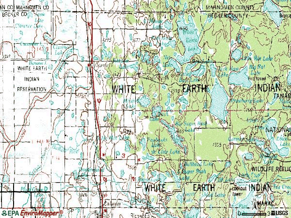 Zip code 56569 topographic map