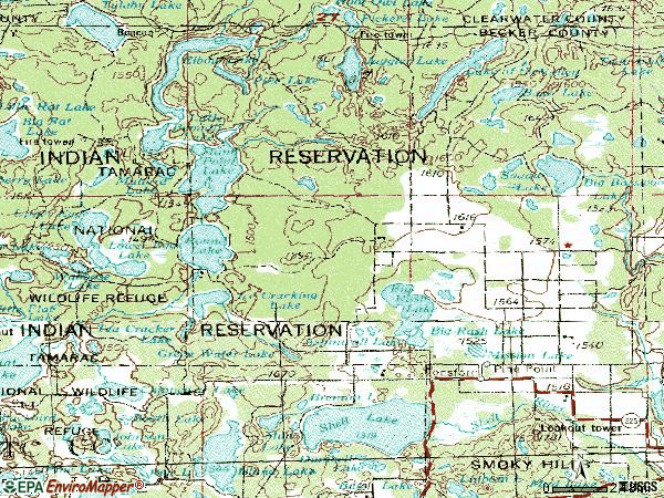Zip code 56575 topographic map