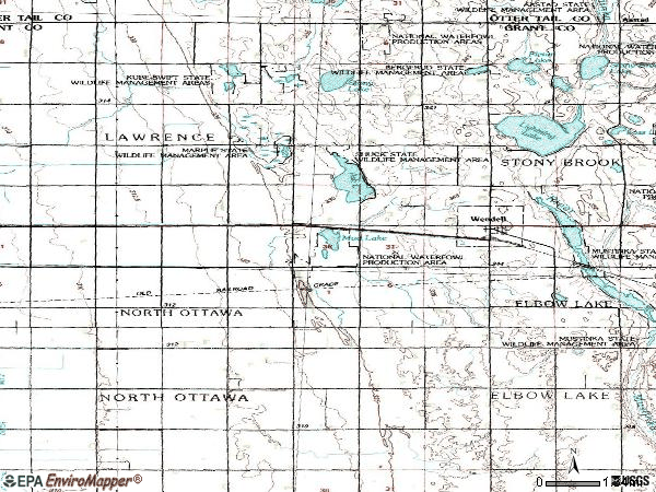 Zip code 56590 topographic map