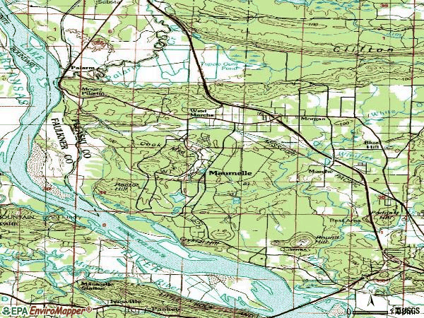 Zip code 72113 topographic map