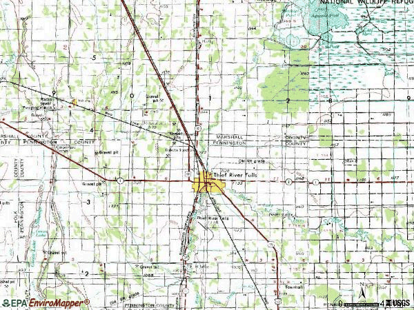 Zip code 56701 topographic map