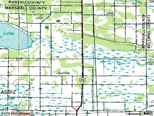 Zip code 56724 topographic map