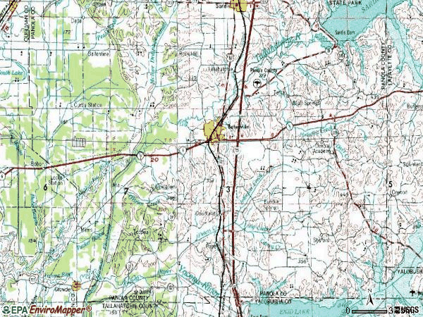Zip code 38606 topographic map