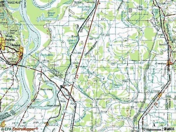 Zip code 38626 topographic map