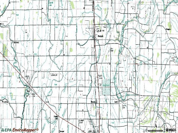 Zip code 38759 topographic map