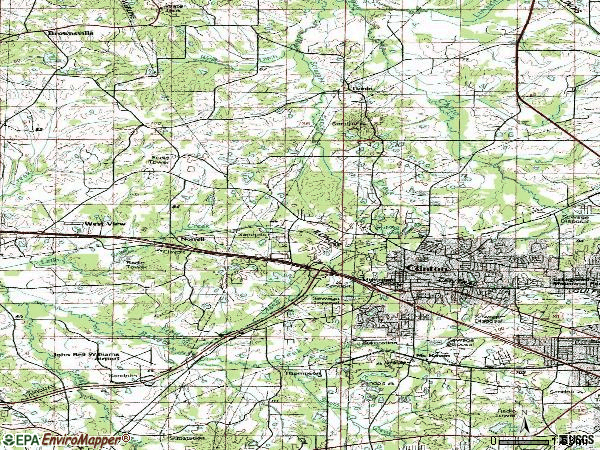 Zip code 39056 topographic map