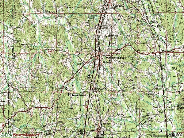 Zip code 39083 topographic map