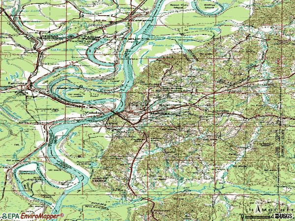 Zip code 39120 topographic map