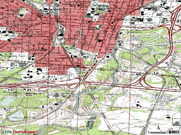 Zip code 39201 topographic map
