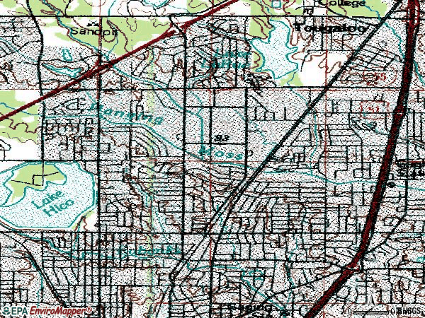 Zip code 39206 topographic map