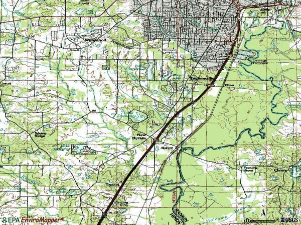 Zip code 39212 topographic map