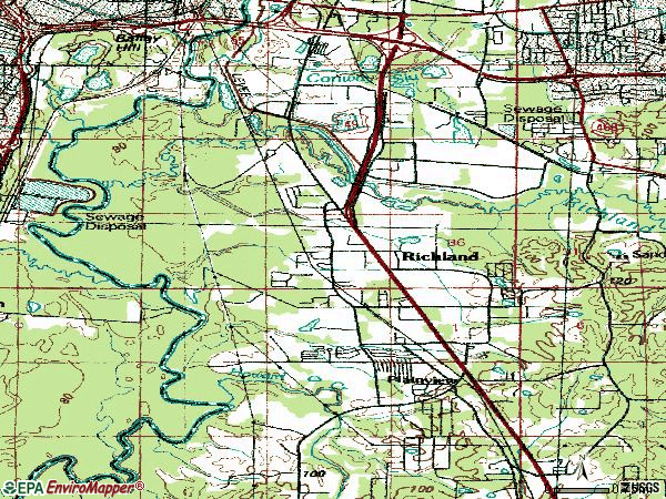 Zip code 39218 topographic map
