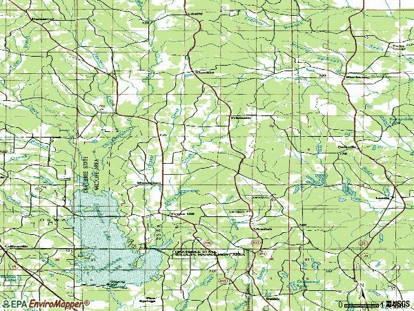 Zip code 39320 topographic map