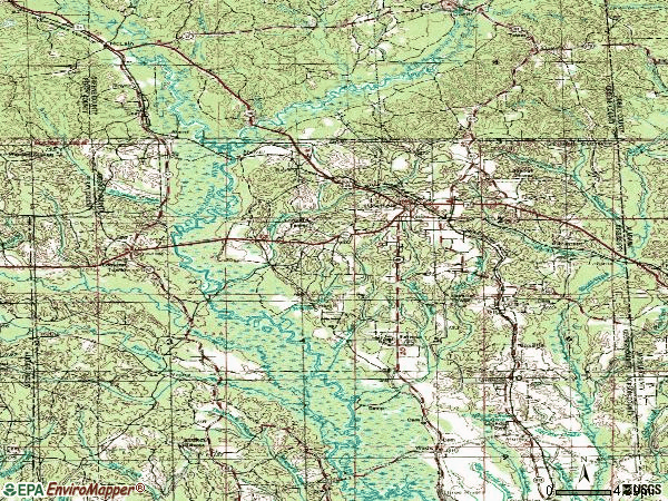 Zip code 39452 topographic map