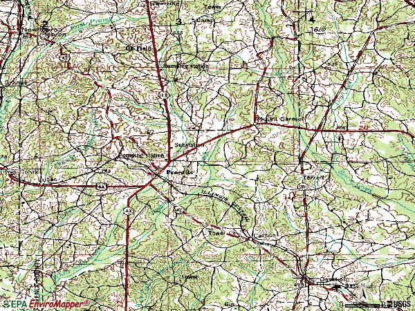 Zip code 39474 topographic map