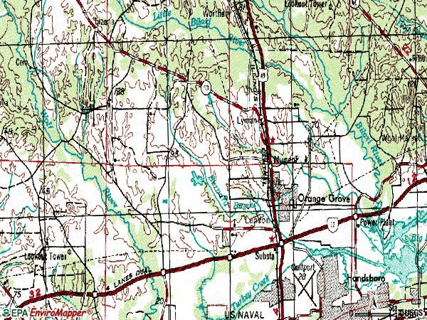 Zip code 39503 topographic map