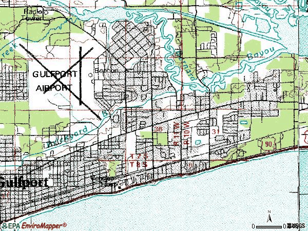 Zip code 39507 topographic map