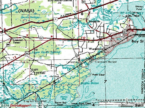 Zip code 39520 topographic map