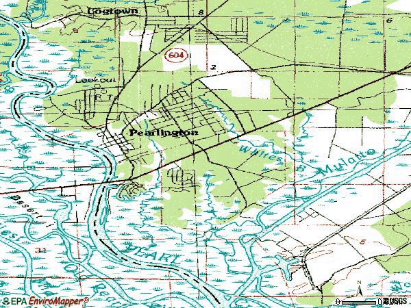 Zip code 39572 topographic map
