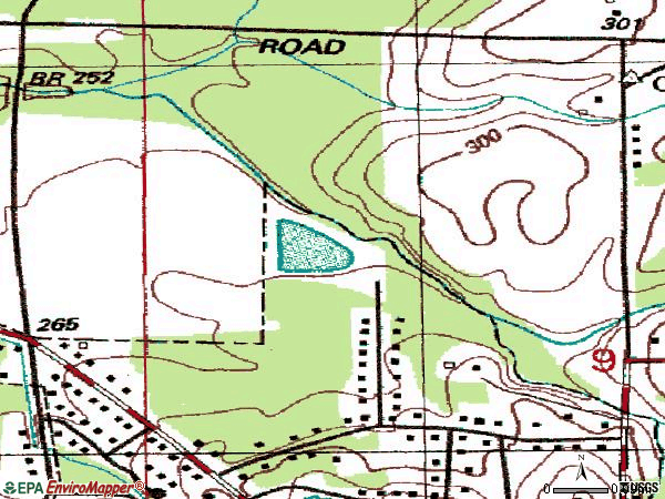 Zip code 39704 topographic map