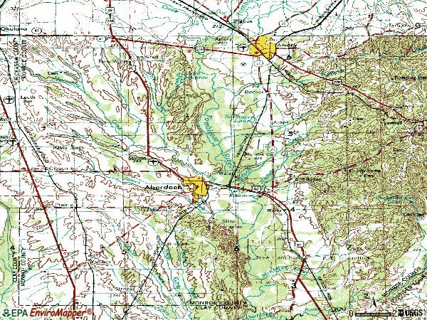 Zip code 39730 topographic map
