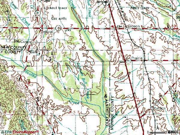 Zip code 39756 topographic map
