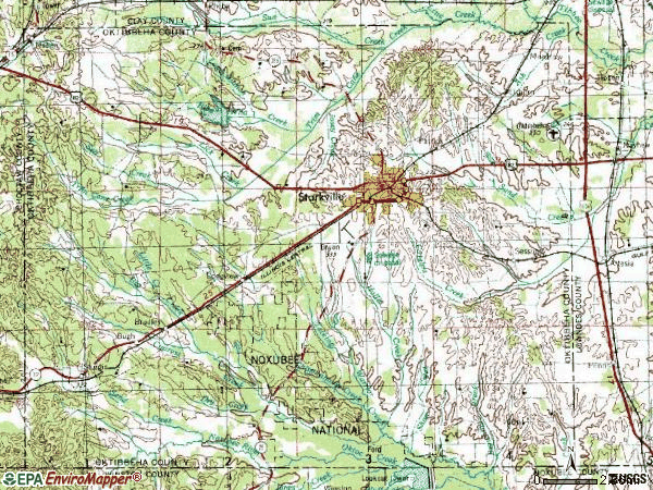 Zip code 39759 topographic map