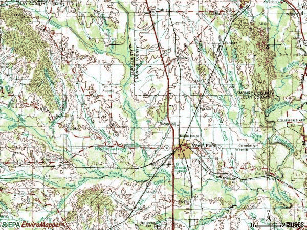 Zip code 39773 topographic map