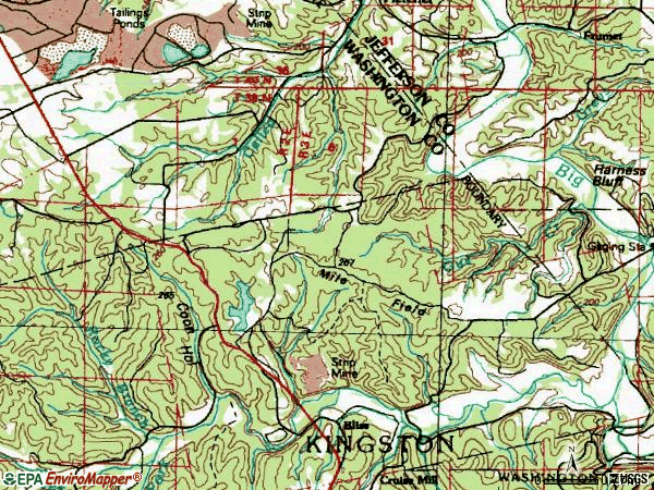 Zip code 63030 topographic map