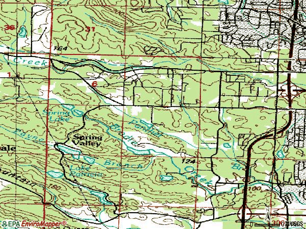 Zip code 72211 topographic map