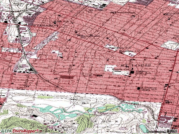 Zip code 63112 topographic map