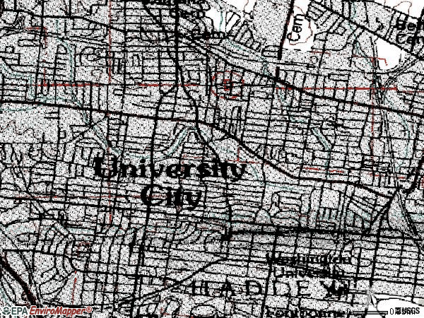 Zip code 63130 topographic map