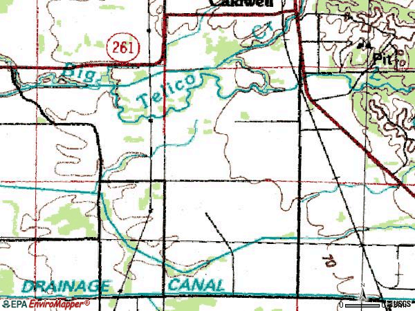 Zip code 72322 topographic map