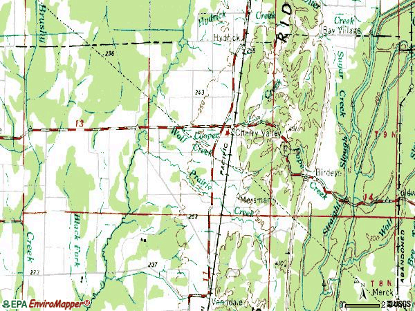 Zip code 72324 topographic map