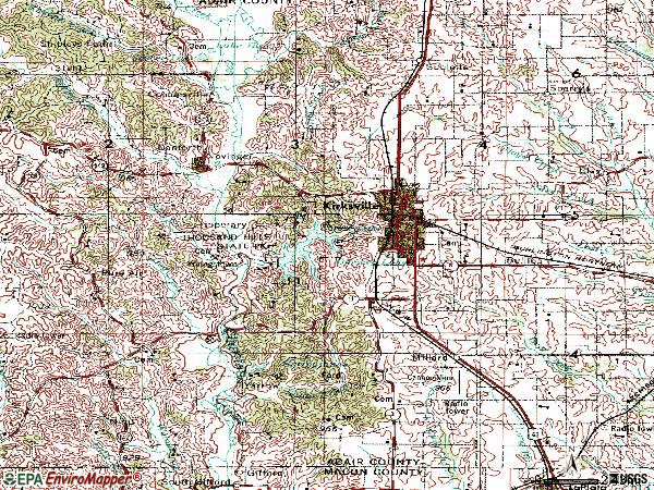 Zip code 63501 topographic map