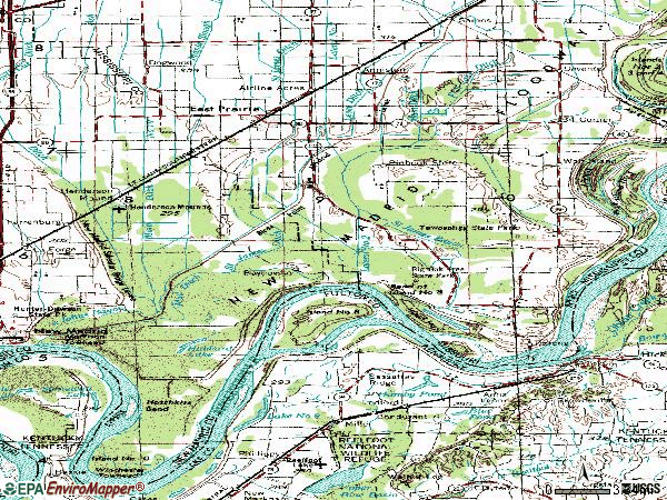 Zip code 63845 topographic map