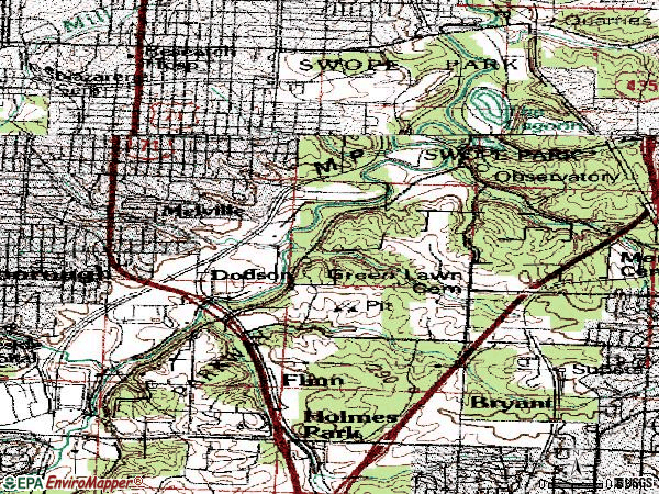 Zip code 64132 topographic map