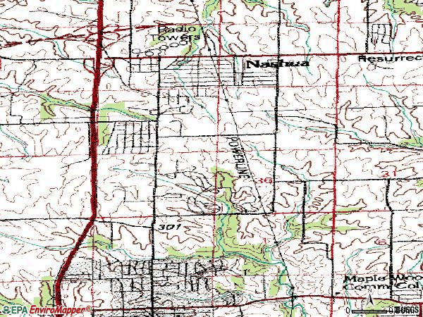 Zip code 64155 topographic map