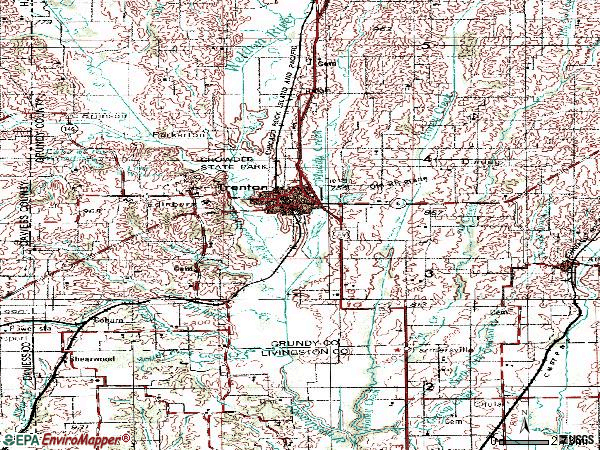 Zip code 64683 topographic map