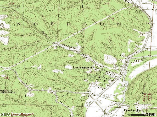Zip code 64850 topographic map