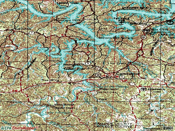 Zip code 65020 topographic map