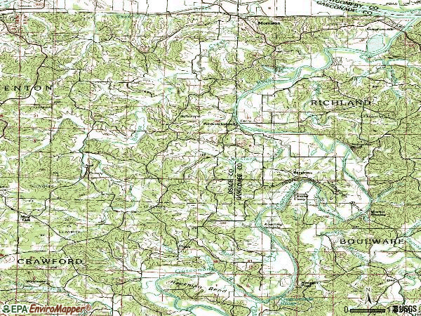 Zip code 65061 topographic map