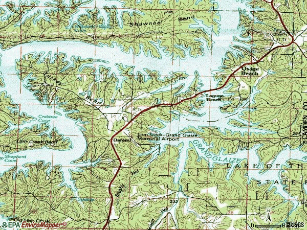Zip code 65065 topographic map