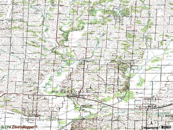 Zip code 65261 topographic map