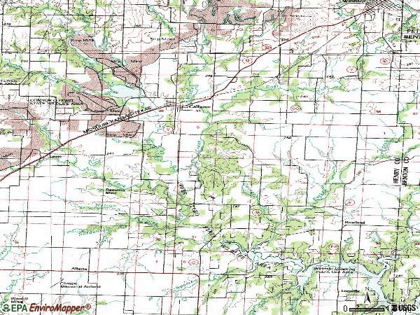 Zip code 65323 topographic map