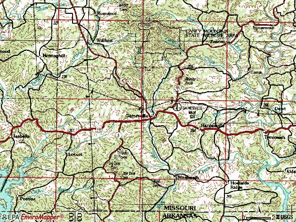 Zip code 65655 topographic map