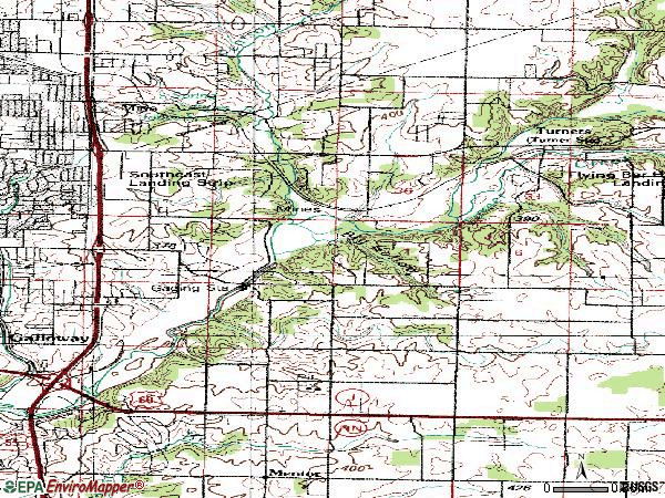 Zip code 65809 topographic map