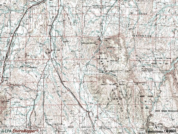 Zip code 59014 topographic map